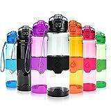 Best Bottiglie di acqua per le scuole - Grsta Bottiglia d'acqua sportiva senza BPA - riutilizzabileborraccia Review