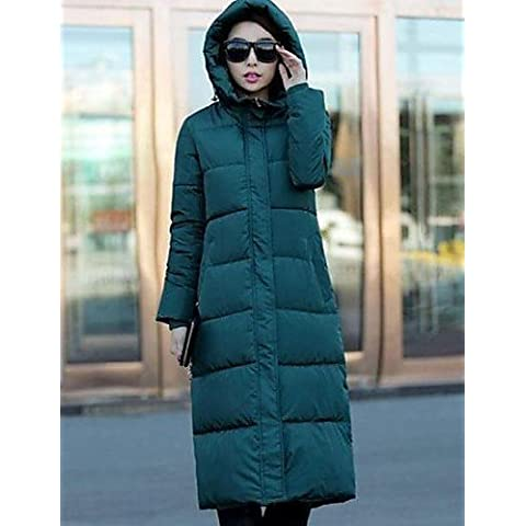 Women's Hooded Down Cotton Coat(More Colors) , black-2xl , black-2xl
