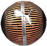 Puma One Chrome Ball Fußball,  Rot blast - Puma Schwarz - Silber,Größe 5
