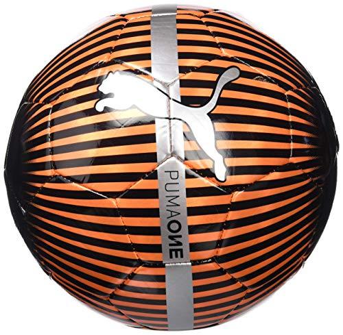 Puma Unisex s One Chrome Ball  Red Blast Black-Silver  Size 5