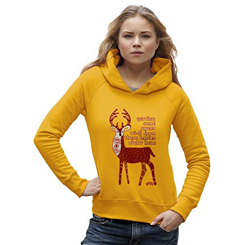TWISTED ENVY -  Felpa con cappuccio  - Maniche lunghe  - Donna giallo X-Large