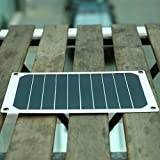Cewaal 6W USB 2.0 Monokristallines Solar Power Panel Externes Backup-Ladegerät