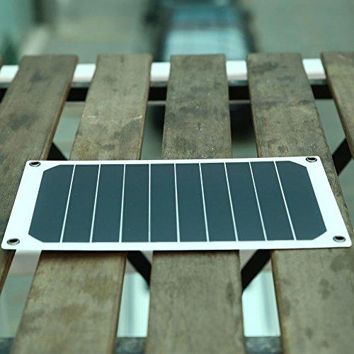 Handy-ladegerät Backup (Cewaal 6W USB 2.0 Monokristallines Solar Power Panel Externes Backup-Ladegerät Outdoor Reisen Camping für Handys)