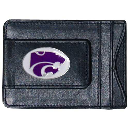 Siskiyou NCAA Bargeld- und Kartenetui aus Leder, Herren, Kansas State Wildcats