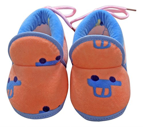 Baby Station Booties Winter Warm Girl Boys Shoes First Walker Training Shoes (0-6 M) (Orange)  available at amazon for Rs.275