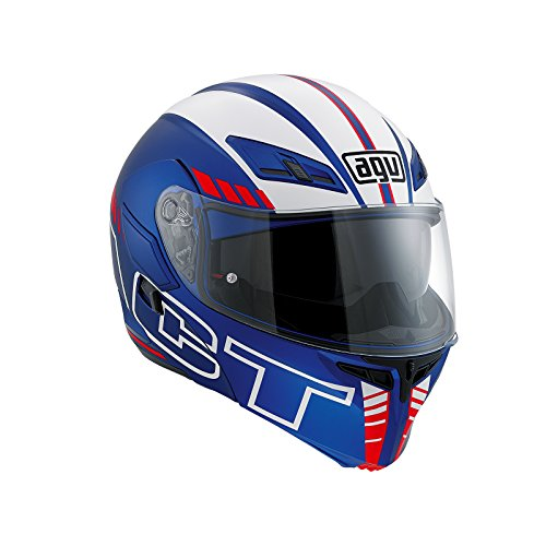 AGV Casco Moto Compact St E2205 Multi PLK, Seattle Matt Blue/White/Red, S