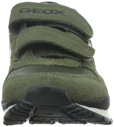 Geox J Pavel A, Baskets Basses garçon Vert (military)