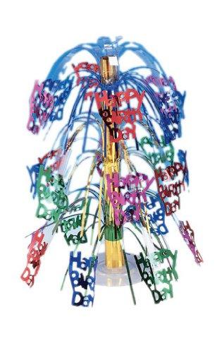 Creative Converting Cascade pièce maîtresse, Multicolor Joyeux Anniversaire