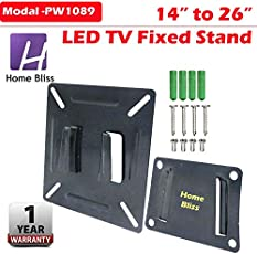 Home Bliss LCD LED PLASMA TV WALL MOUNT STAND FIXED TYPE 14 to 26 inch
