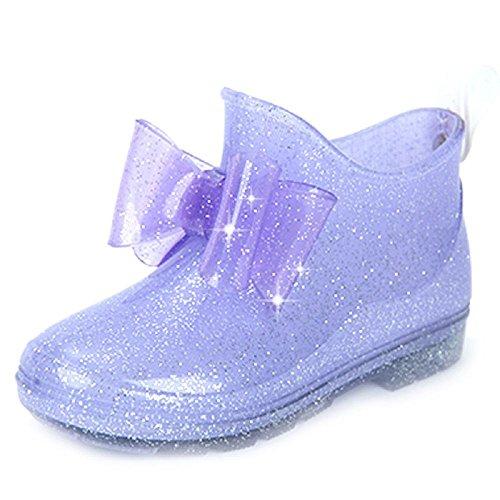 Enfants Pluie Chaussures Anti-dérapant Pluie Bottes Princesse Chaussures de cristal 4