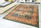Moderner Orientteppich Gabolo Nomado Grün - Vintage Perser Teppich Muster - Öko-Tex, Größe: 160x235 cm