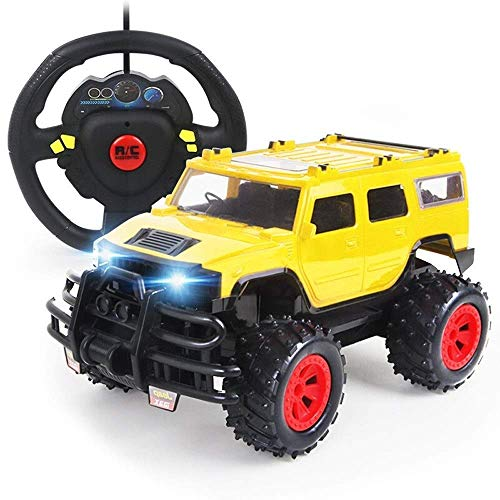 Mnjin Coole Optik Schnelle Spielzeug RC Fahrzeug Elektro Off Road Monster Truck RC Autos für Kinder Kleinkind Geschenk 2,4 GHz Radio 2WD Truck 1/14 Kinderauto Trucks Yellow Beach Racing Gelä