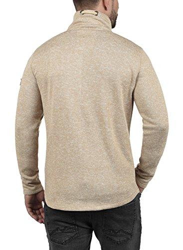 SOLID Luki Herren Fleece-Jacke Übergangsjacke mit Stehkragen aus hochwertigem Material Meliert Sand Melange (8409)