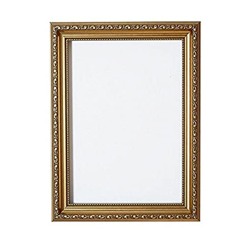 Ornate Shabby Chic Picture/Photo/Poster frame - With an MDF backing board - Ready to hang - With a High Clarity Styrene Shatterproof Perspex Sheet Gold - 20