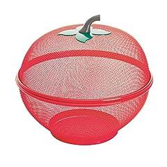 Idea Regalo - Excelsa Apple Cestino Frutta, Acciaio, Rosso