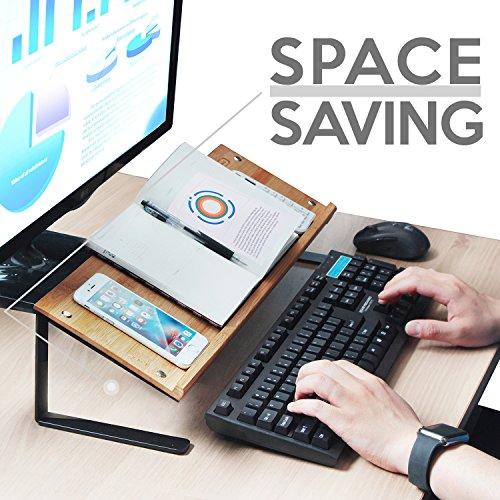 jackcubedesign Bambus Tablet Smartphone Book Ständer Handy Display Organizer Ablage Desktop Computer Laptop Dokument Halter für Schreibtisch (52,6x 17x 13cm) -: mk294a