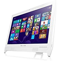 Lenovo C260 19.5 inch All-in-One Desktop PC (White) - (Intel Pentium J2900 2.66 GHz, 4 GB DDR3 RAM, 1 TB HDD, Integrated Graphics, HDMI, Windows 8.1 with Bing, DVDRW, Camera, Wi-Fi)