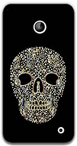 The Racoon Grip Glowing Music Skull hard plastic printed back case / cover for Nokia Lumia 630