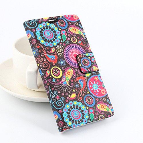 Baiwei Bunt Easbuy Handy Hülle Case Etui Tasche Schutzhülle für Cubot x9 Smartphone Tasche Hülle Case Handytasche Handyhülle Schutzhülle Etui (Mode 5)
