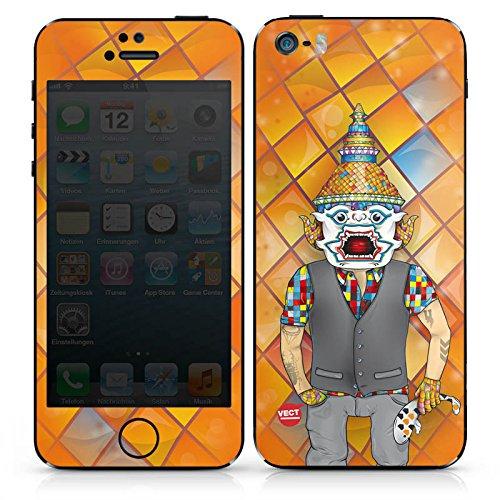 Apple iPhone 4s Case Skin Sticker aus Vinyl-Folie Aufkleber Bunt Orange Comic DesignSkins® glänzend