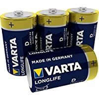 Varta Longlife Batterie D Mono Alkaline Batterien LR20 - 4er Pack (Design kann abweichen)