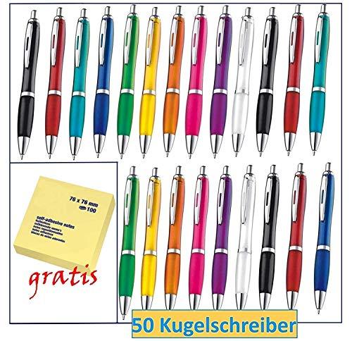 Libetui 50 Stück farbenfrohe Kugelschreiber in Trendigen Farben für Büro und Haushalt