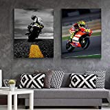 cptbtptp Moderne Dekoration Poster Mode Kunst Motorrad Racing Leinwand Malerei Hd Print Sport Themed...