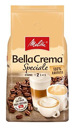 Melitta Ganze Kaffeebohnen, 100 % Arabica, mildes Aroma, leichter Charakter, milder Röstgrad, Stärke 2, BellaCrema Speciale, 1000g - 2