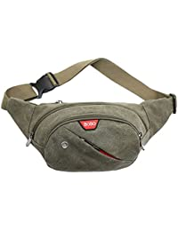Generic Retro Men Women Canvas Waist Fanny Pack Travel Bag- Parent