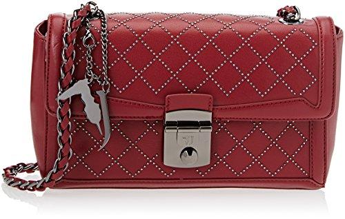 Trussardi Jeans 75b00197-1y000053, Borsa a Tracolla Donna, 28x17x10 cm (W x H x L) Rosso (Bordeaux)