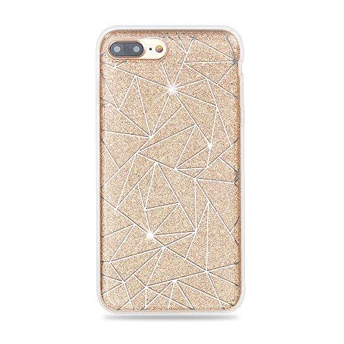 Apexel Schutzhülle Glitzer Bling Sparkle Schutzhülle für Apple iPhone 7Plus gold