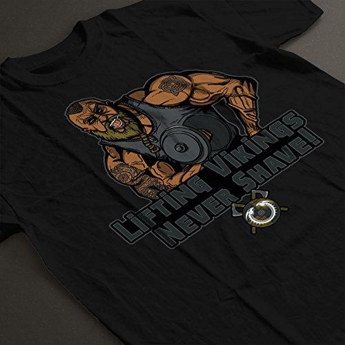 Liftin Vikings Never Shave Men's T-Shirt Black