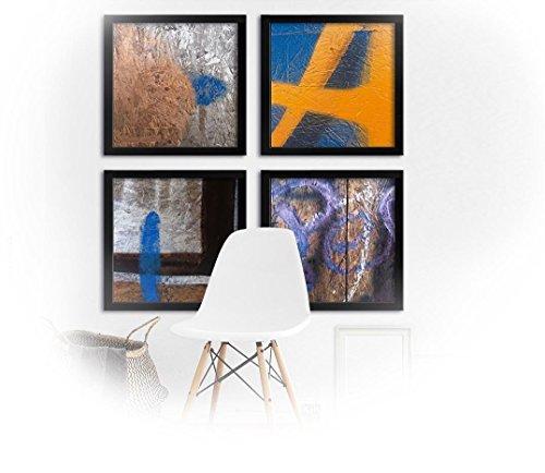 Signs _ Fine Art Hahnemühle matte Aquarellstruktur - 4x 40 x 40 cm - Fotografik - ungerahmt - -