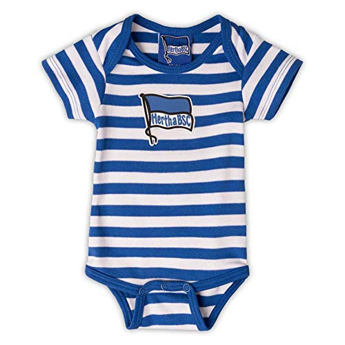 Hertha BSC Berlin Gestreift Baby Body (86/92, blau/weiß)