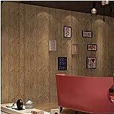Carta da parati antica classica d'antiquariato del negozio di vestiti della retro della carta da parati del modello di legno d'imitazione d'annata della carta da parati (Color : Amber)