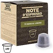 Note d'Espresso Black Lemon Tea Capsules exclusively Nespresso* Compatible 2g x 40 Capsules