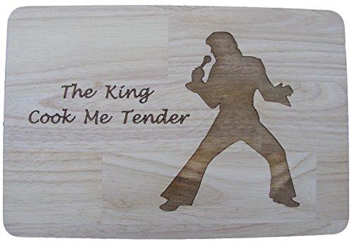 Elvis presley il re del rock and roll idea regalo di legno di bambù tagliere tagliere per formaggi tovaglietta cook love me tender inciso a forma di legno di legno da cucina cottura regalo di compleanno in legno