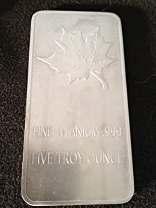 Titan Titanium Barren 5 Oz Maple Leaf 999 Edel ! Rarität !