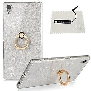TOCASO Compatible for Sony Xperia Z5 Transparent Hülle TPU Silicone Handyhüllen Ultradünnen Sparkle Back Case Anti-Staub Anti-Kratzer und Shockproof Tasche Schutzhülle für Xperia Z5 -Crystal Weiß