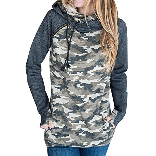 Dihope Femme Pritemps Automne Sweat à Capuche Manches Longues Sweater Casual Sweat-shirt Mode Hoodie Couleur 9