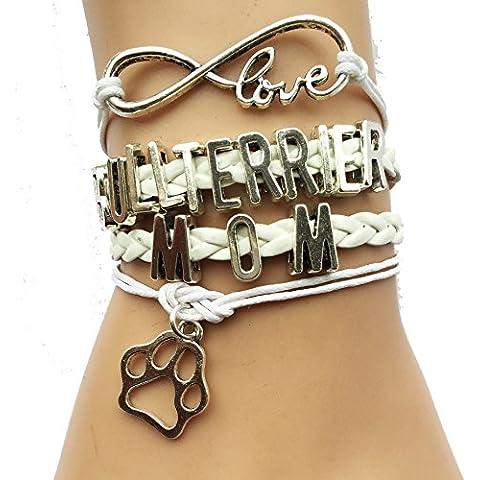 Bull Terrier mamma Paw braccialetto-razza amanti dei
