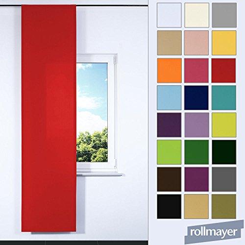 einfarbig Schiebevorhang mit Paneelwagen für Flächenvorhangschiene / Schienensysteme 60 x 245 CM (Weinrot 13, IKEA System), Flächenvorhang Schiebepanel Schiebegardine Vorhang Raumteiler