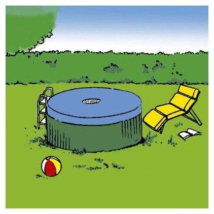 Provence Outillage 2290 - Lona (4,20 m de diámetro, para piscina redonda de 3,60 m de diámetro)