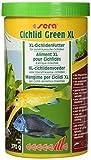 Sera 00213 Cichlid Green XL 1000 ml - Das Grünfutter mit 10% Spirulina für größere Herbivore Cichliden z.B. Malawi Oder Moori