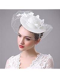 Wanlianer Cappello Fascinator Fascinators delle Donne Cappello Clip di  Capelli Feather Wedding Headware Copricapo da Sposa d24eff72b863