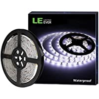 LE Tira LED, Cadena de Luces, 5m 300 LED SMD 2835, Blanco Frío, Resistente al Agua IP65, para Techo, Muebles, Cocina etc.