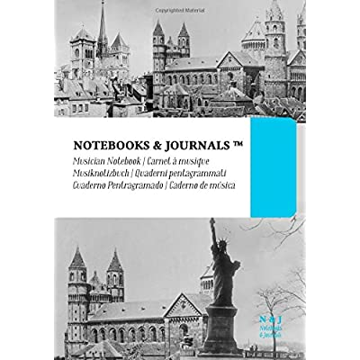 Quaderni Pentagrammati Notebooks & Journals, Edifici (Vintage Collection), Extra Large: Soft Cover (17.78 X 25.4 Cm)(Taccuino Appunti,taccuino Di Viaggio)