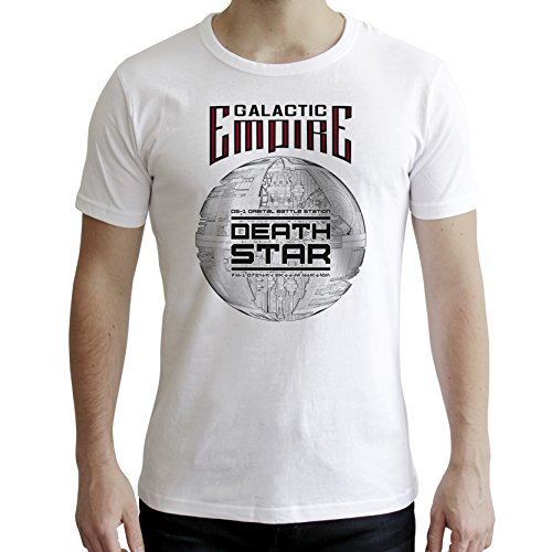 AbyStyle abystyleabytex398-s Star Wars Death Star Short Sleeve Herren Neue Fit T-Shirt (Small)