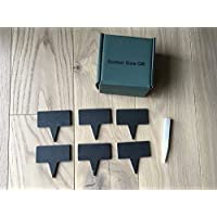 Slate Rectangle Cheese Markers set of 6 with Soapstone Pencil, Gift Boxed