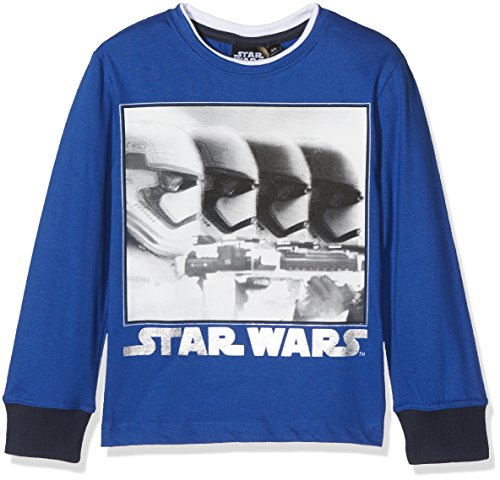 STAR WARS Sith vs Jedi T- T-Shirt, Bleu (Blue), 7-8 Ans (Taille Fabricant: 8 Years) Garçon